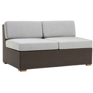 Loveseat Sectional w/ Loose Cushions