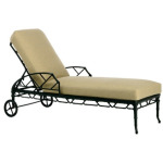 Adjustable Chaise with wheels & Loose Cushion